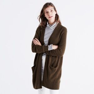 Madewell Ryder Cardigan Sweater - Olive Green
